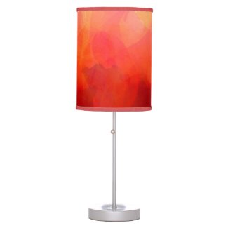 Watercolor Art in Reds, Orange and Yellow Table Lamp