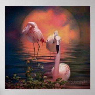 Where The Wild Flamingo Grow Poster/Print