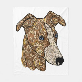 Whippet Fleece Blanket