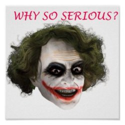 Joker Why So Serious Poster
