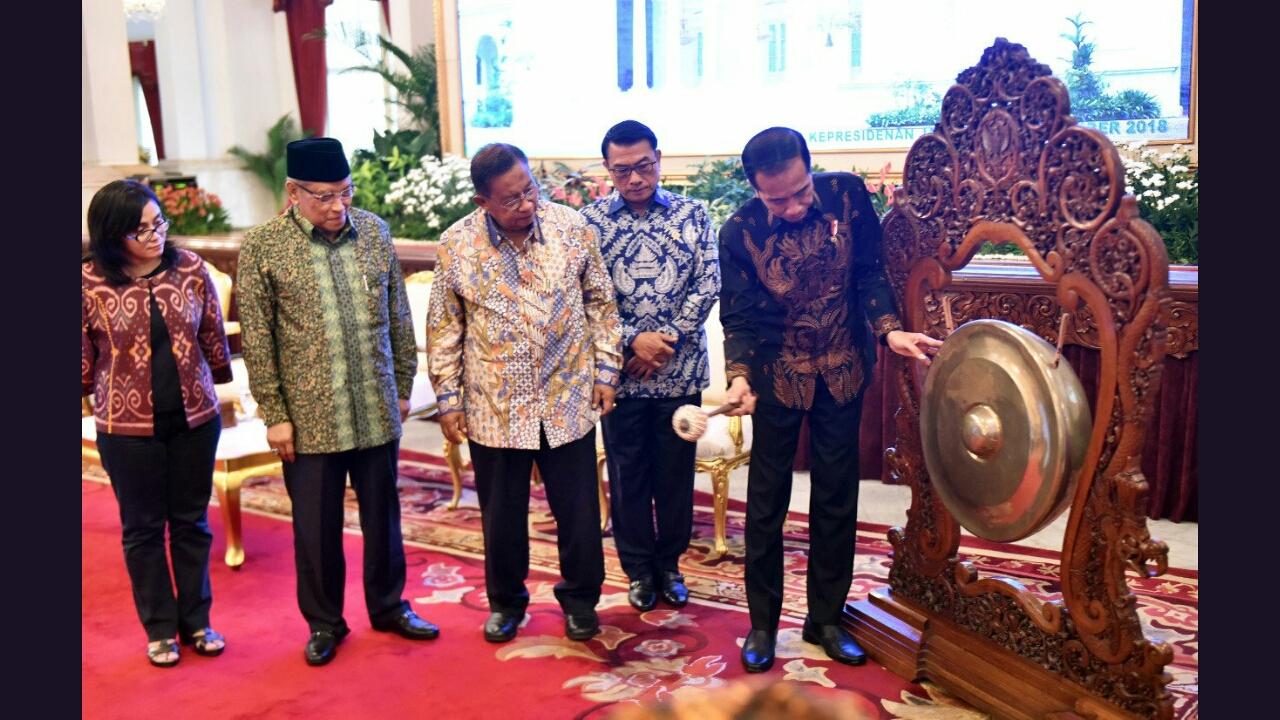 Pembukaan Global Land Forum (GLF) oleh Presiden Joko Widodo