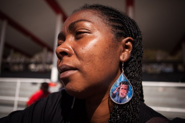 Chávez earrings at the public funeral for Hugo Chávez in Caracas, March 8, 2013