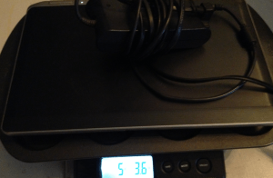 weighing laptop
