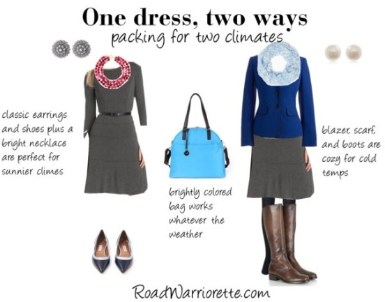 One dress two ways gray