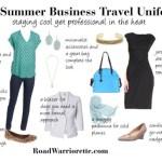 summer business  travel uniform