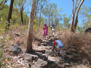 The Climb to Gunlom Falls, Kakadu.