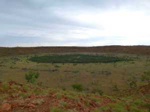 300,000 year old impact crater at Wolfe Creek.