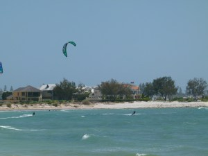 We loved watching the Kite Surfers.