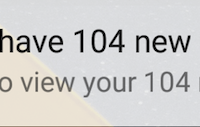 you have 104 notifications!