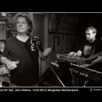 With John Wetton at the Bergkeller in Reichenbach, Germany
