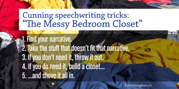 The messy bedroom closet trick