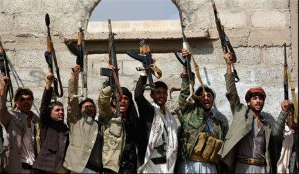 Yemenis fighting the Saudi-led invasion of their country. Unlike what we read in the U.S. media, despite its savage bombing campaign there, the Saudis are taking a regular beating in Yemen on the ground.