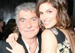 Roberto Cavalli with Cindy Crawford