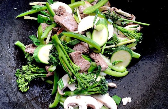 Iron boosting beef and super greens stir-fry