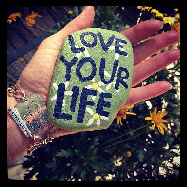 Love Your Life Rock Paperweight