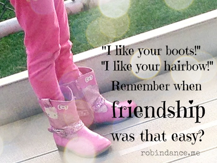 When friendship was easy
