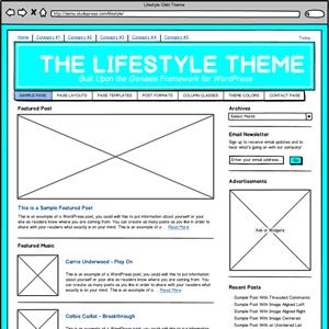 Download Balsamiq Genesis Lifestyle Theme Mockup
