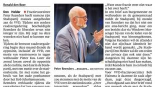 Excuses Stadspartij na aanval op integriteit van VVD-fractie