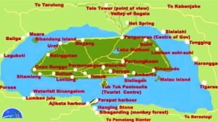 Samosir Island Map