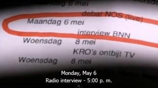 Maandag 6 mei interview BNN