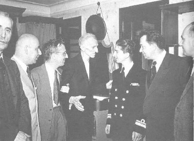 Above is dear Tesla with King Peter II of Yugoslavia at the Hotel New Yorker July 15, 1942