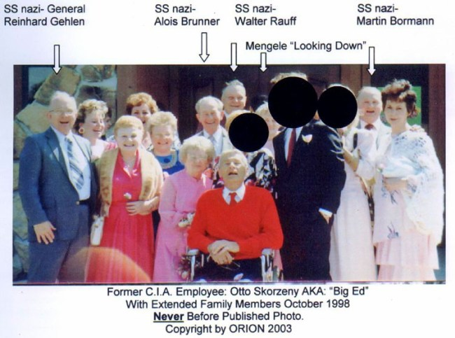 Former CIA Employee Otto Skorzeny with extended family members october 1998 (foto Orion)