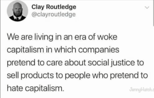 De hypocrisie van woke kapitalisme (Jenny Hatch 20-1-19)