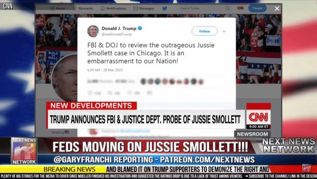 Trump Tweet (foto The Next News Network)
