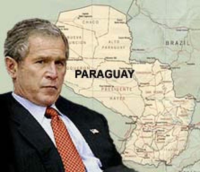 Bush operating out of Paraguay, command and control of scalar technology attacks against the American People (foto Tom Heneghan)