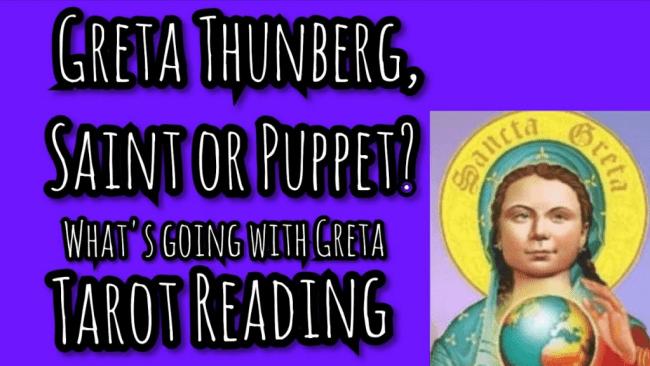 Greta Thunberg, saint or puppet (foto Northy Witch)