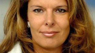 Elène Vis in 2002 tijdens de TROS winterpresentatie in Amsterdam (foto Edwin Janssen)