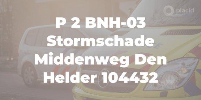 Stormschade Middenweg Den Helder (foto Twitter)