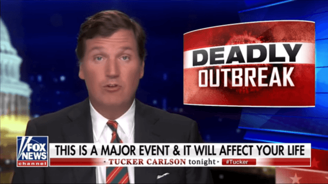 Tucker - Deadly Outbreak (foto Fox News)