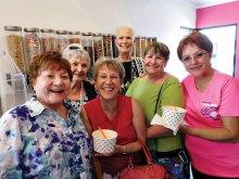 Front row, left to right: Geraldine Gawle, Carol Solow, Carol Cieslik, Lore Carr; back row: Jan Utzman, Glenda Brown