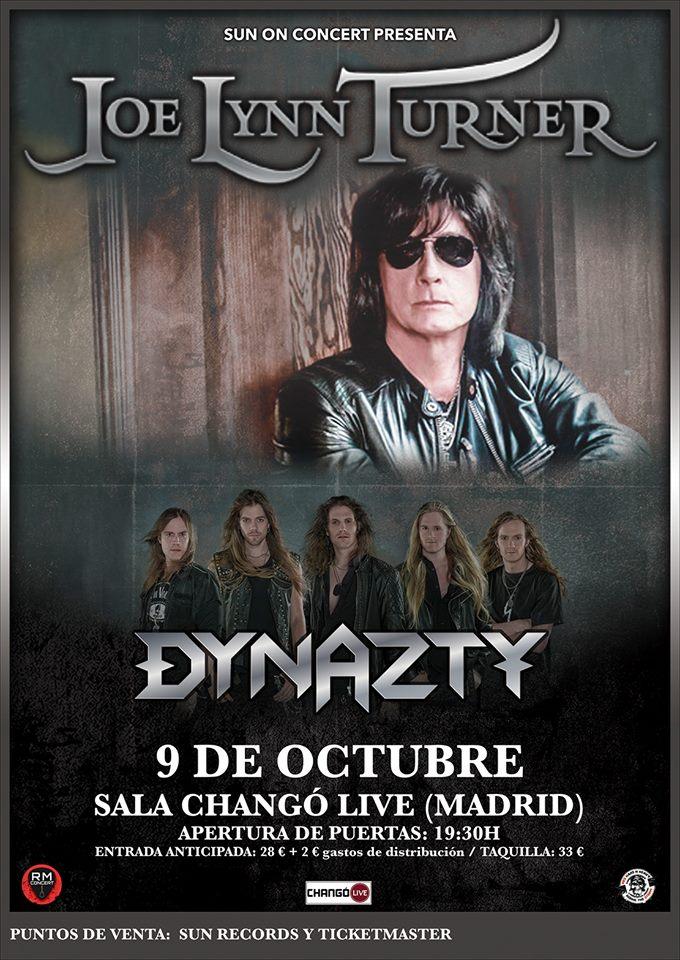 JOE LYNN TURNER + DYNAZTY en España
