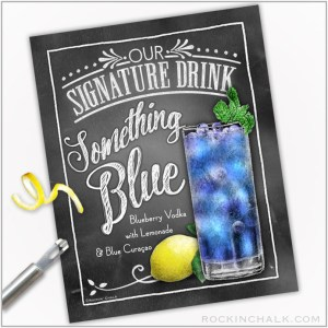 Something Blue tall with mint