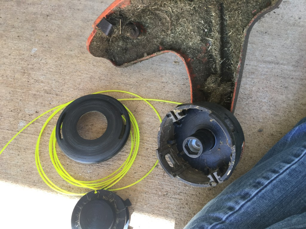 spooling the weedeater!