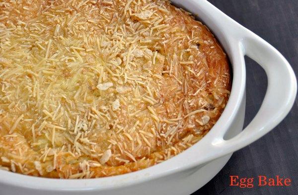 Recipe:  Easy Vegetarian Egg Bake