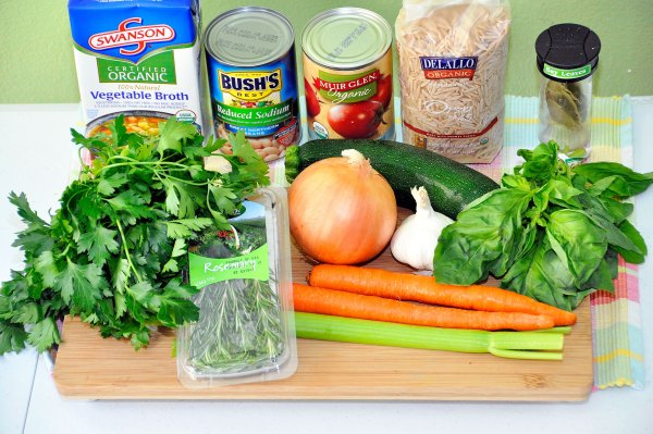 Minestrone Soup Ingredients