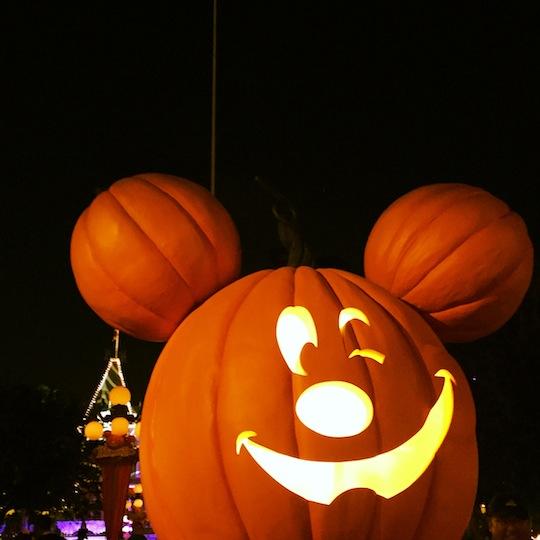 Mickey Pumpkin at Disneyland