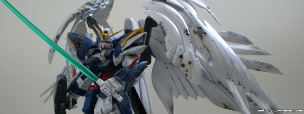 MG Wing Zero Custom WIP 06 -Damaged Wings + Test Shoot- (3/6)