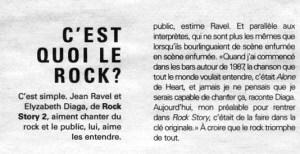 Rock Story - Jean Ravel et Élizabeth Diaga - Revue musicale Spectacle rock musique années Le capitole