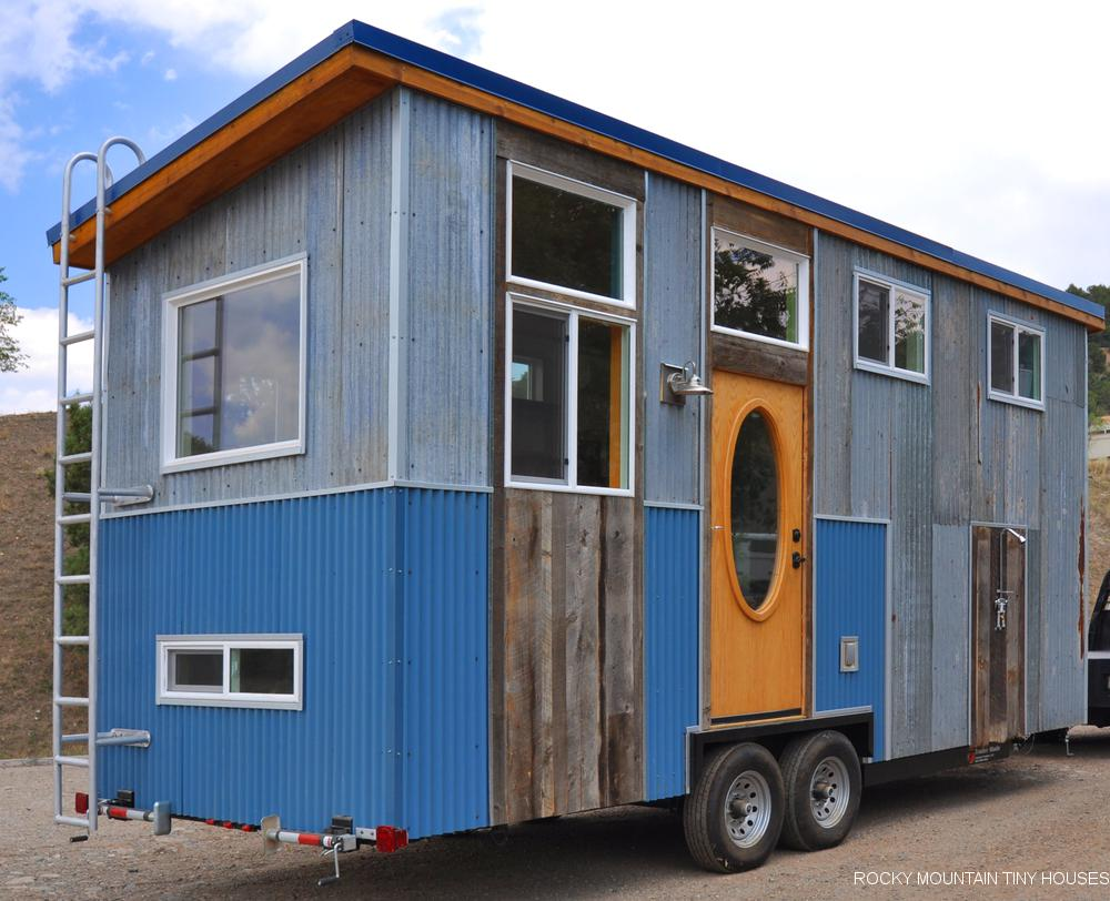 Teal Have A Lower Tandy Tiny House Rocky Mountain Tiny Houses One Most Features This Build Is Amount Reclaimedmaterial Both To Save On Cost curbed Tiny House Jamboree