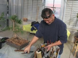 Gary selecting tools