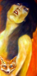 Femme Fatale, fox, symbolic, symbolic art, symbolism, art symbolism,