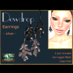 Bliensen + MaiTai - Dewdrop - Earrings - silver - Ad