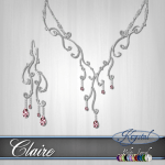 Claire - Jewelry Set - Platinum (MultiJewel)