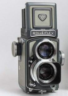 Rolleiflex 4 X 4  Post-War Gray Baby