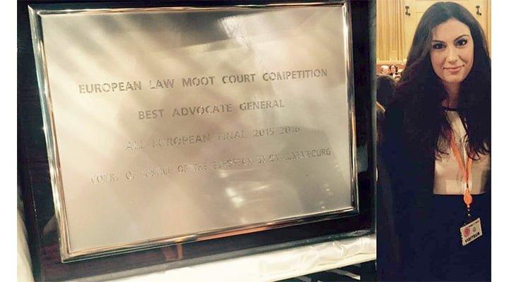 FELICITĂRI! Emma Cristina, studentă din România, a câştigat cel mai important concurs de Drept din Europa, organizat de Curtea Europeană de Justiție