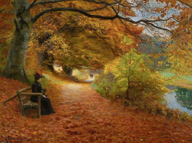 h-_a-_brendekilde_-_a_wooded_path_in_autumn_1902